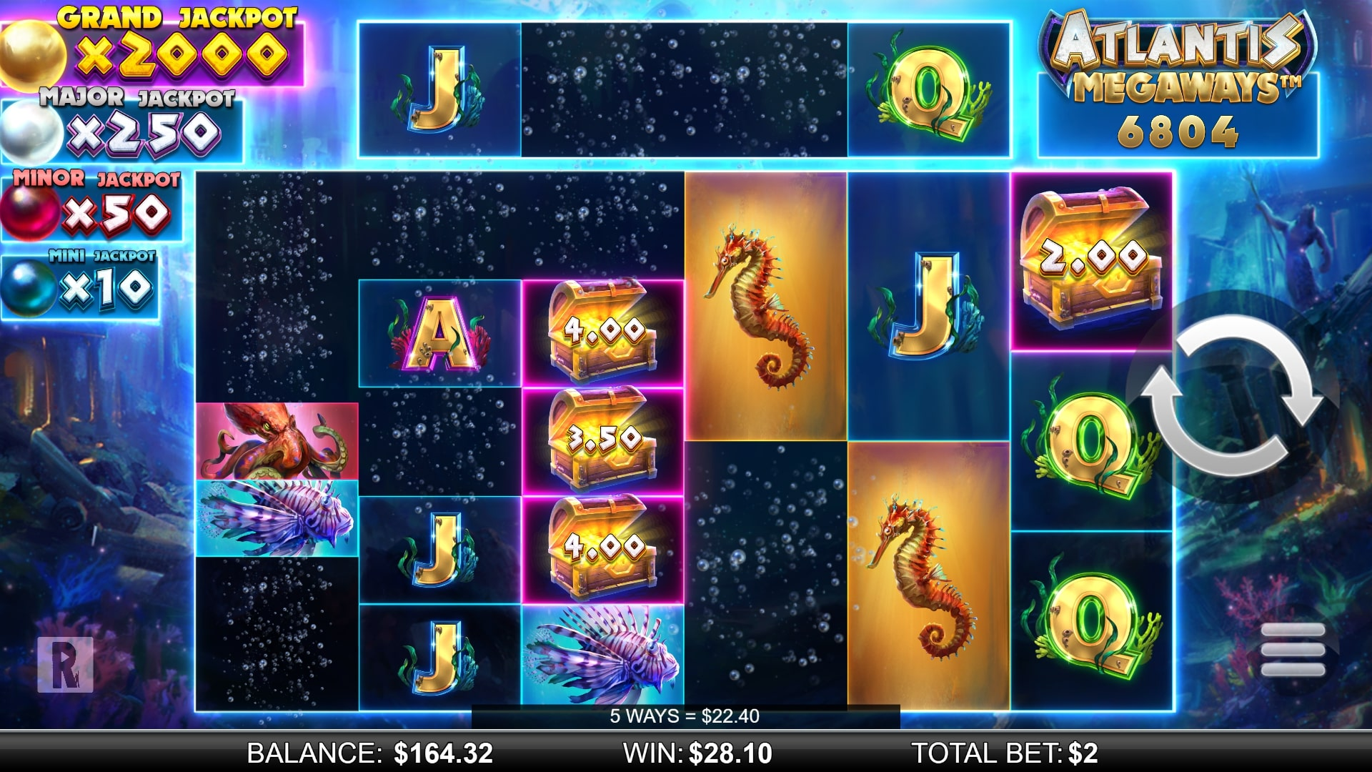 Atlantis Megaways Screenshot