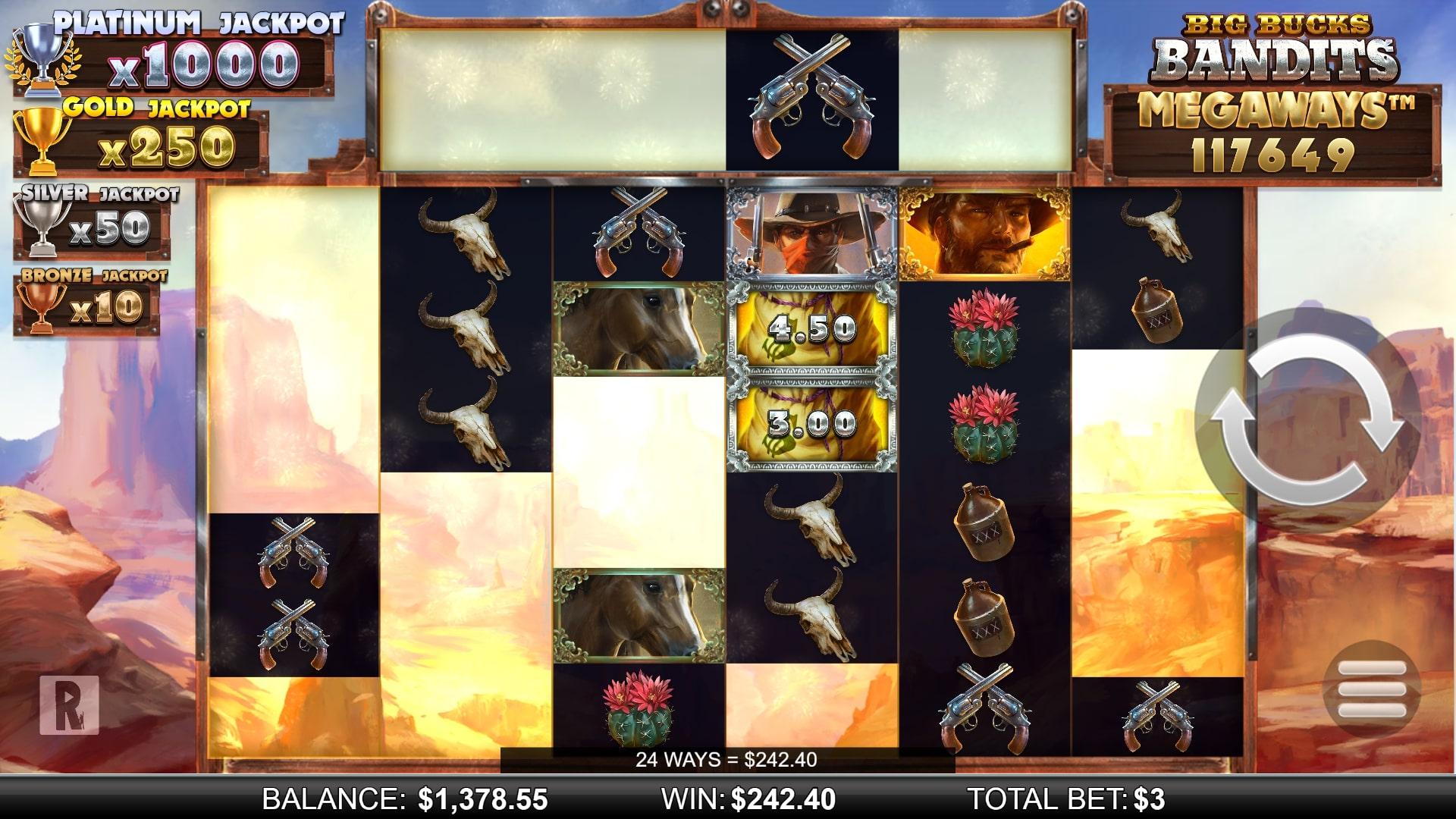Big Bucks Bandits Megaways Screenshot