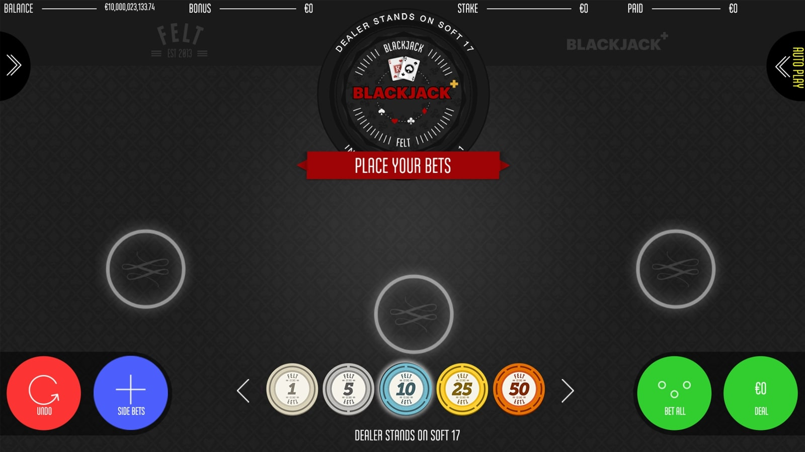 Blackjack+ Screenshot