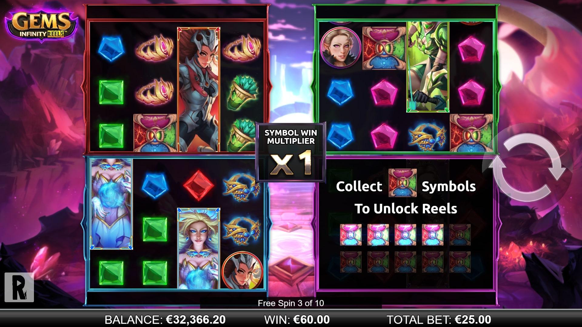 Gems Infinity Reels Screenshot