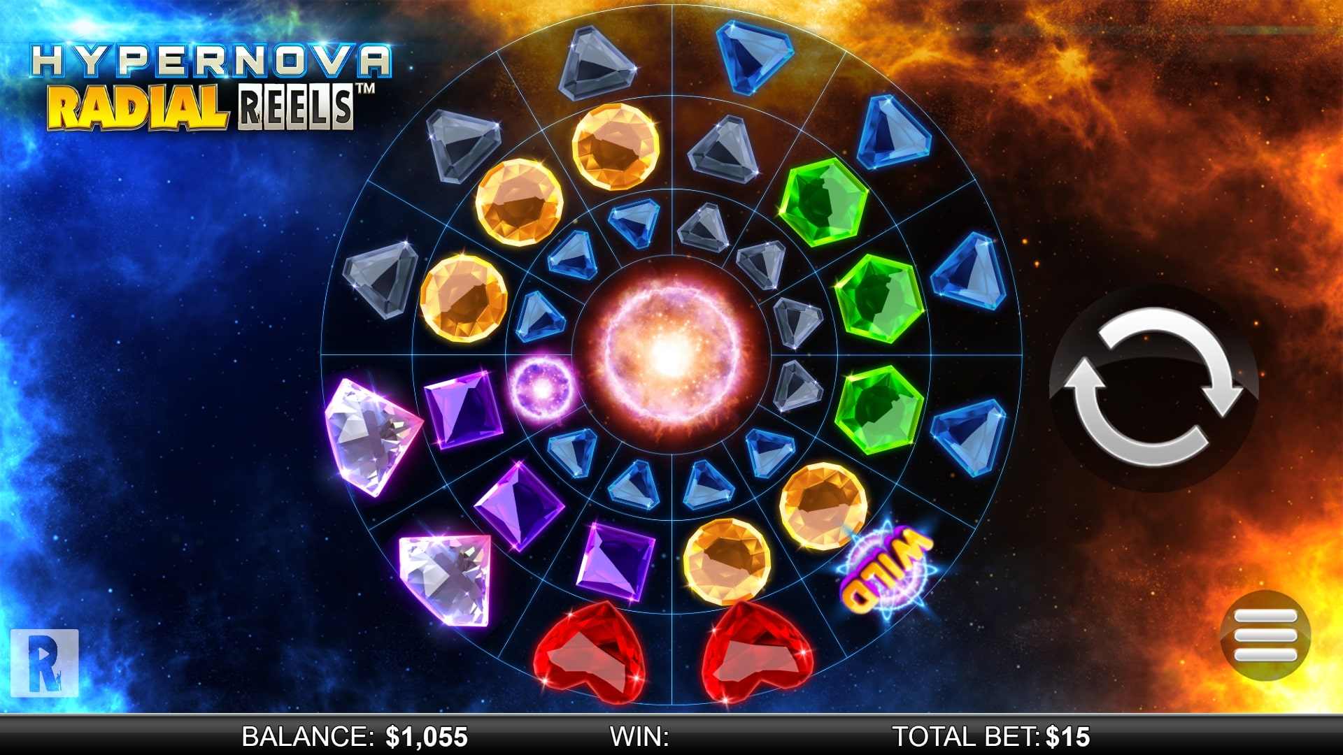 Hypernova Radial Reels Screenshot