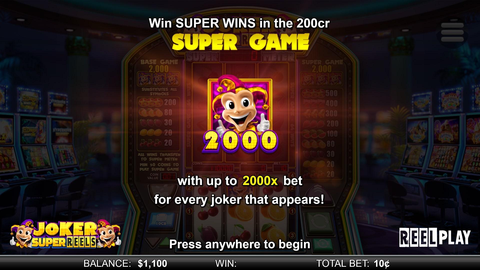 Joker Super Reels Screenshot