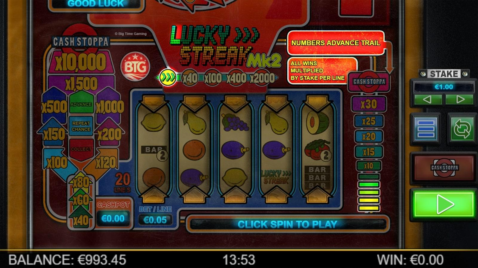 Lucky Streak Mk2 Screenshot