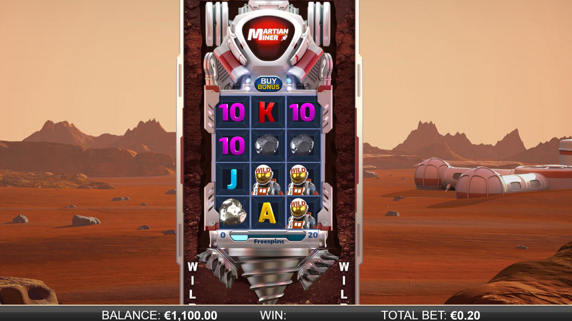 Martian Miner Infinity Reels Screenshot
