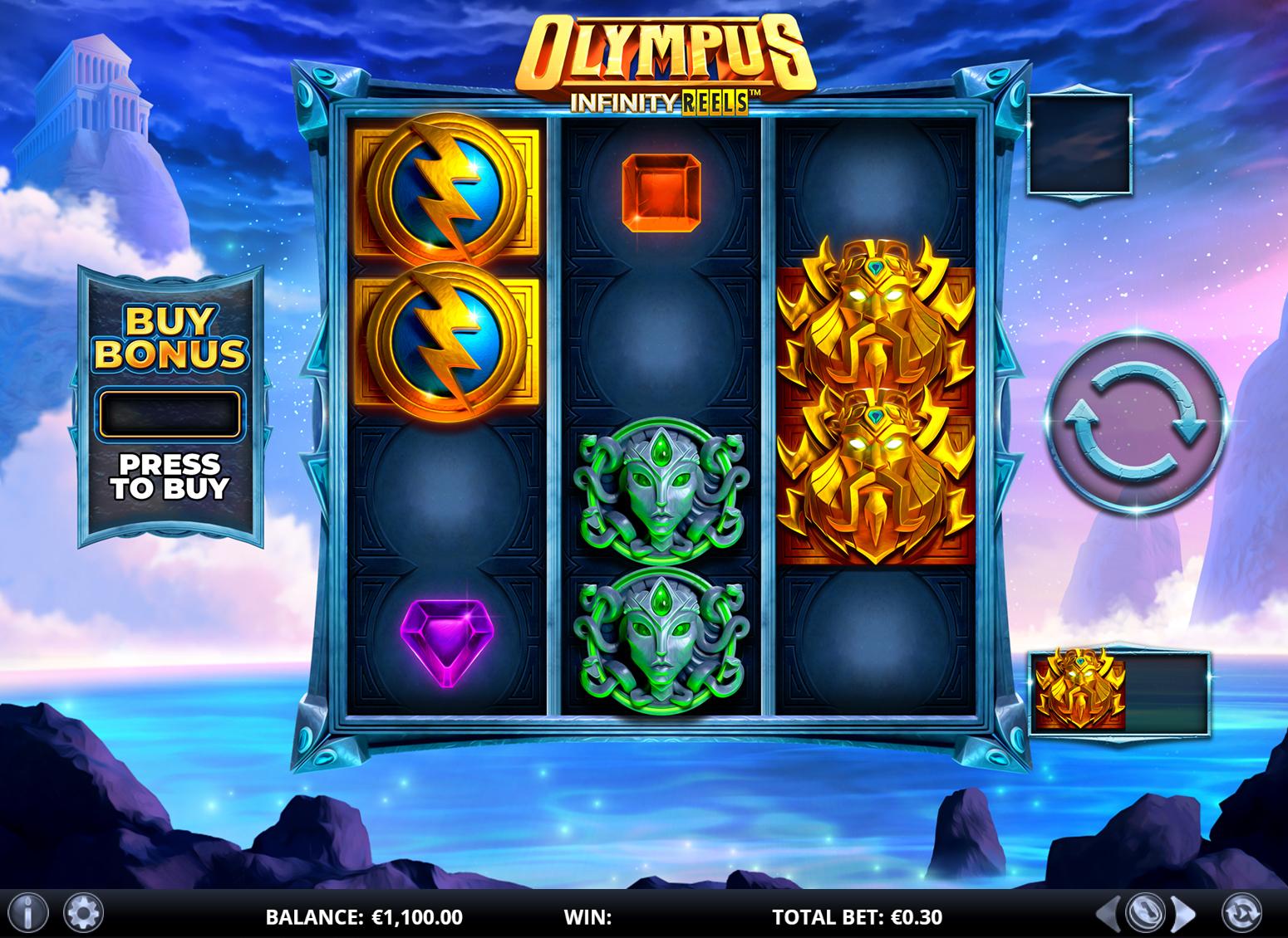 Olympus Infinity Reels Screenshot