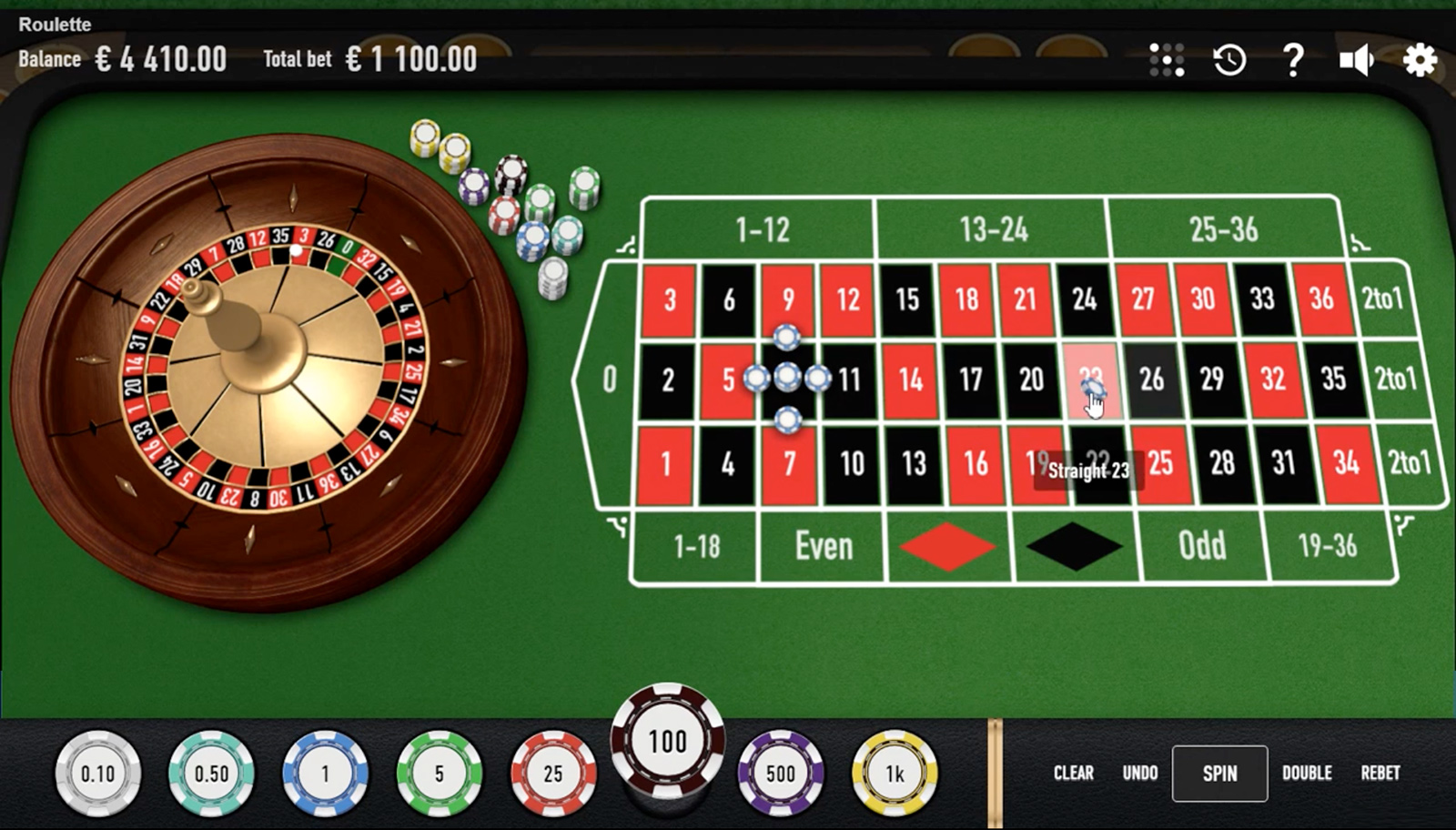 Roulette Nouveau Screenshot