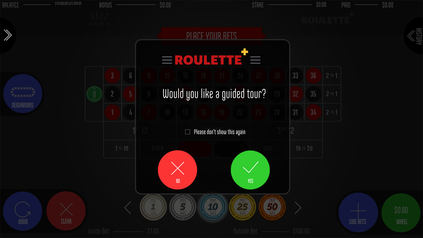 Roulette+ Screenshot