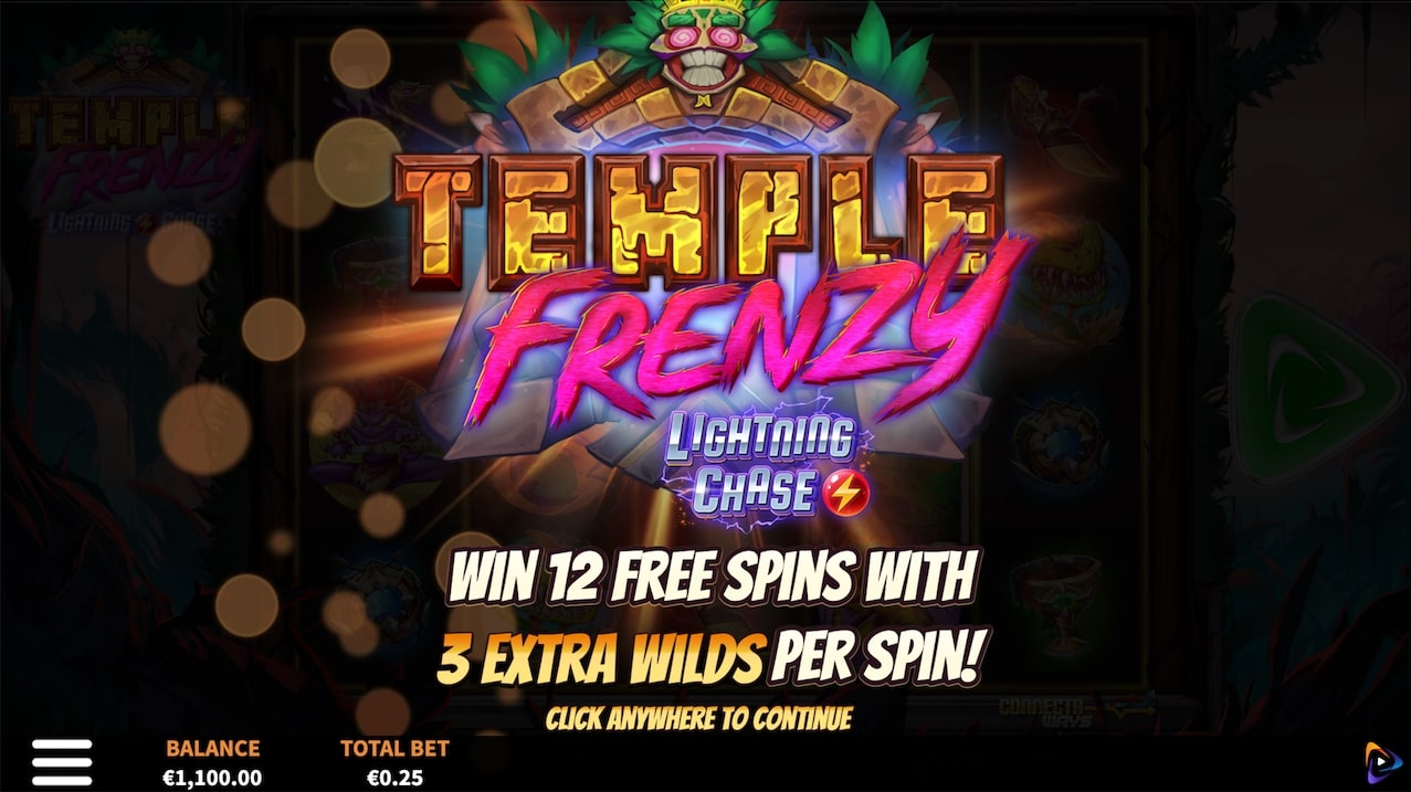 Temple Frenzy Lightning Chase Screenshot